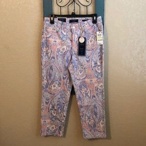Charter Club paisley patterned capris jeans